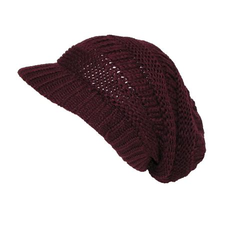 womens knit beanie womens chunky knit slouchy beanie beret by ctm