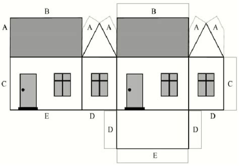 craft paper house cardboard house pattern