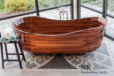 f n woodworking wood bathtubs wooden bath sculpture by nk woodworking