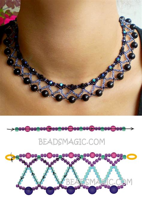 seed bead choker patterns free pattern for necklace seed 11 0 faceted