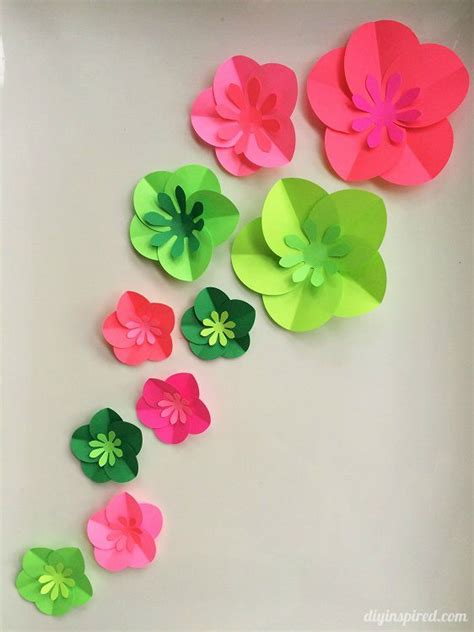 flowers from paper craft 12 step by step diy papers made flower craft ideas for