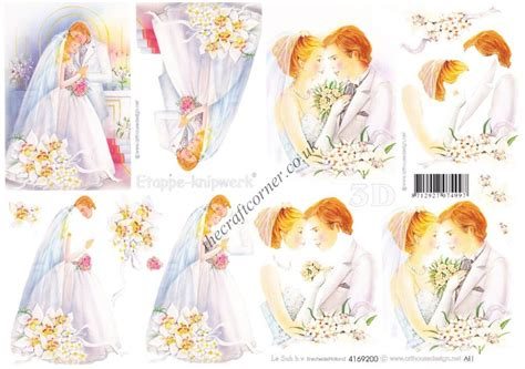wedding decoupage sheets beautiful groom wedding design 3d decoupage sheet
