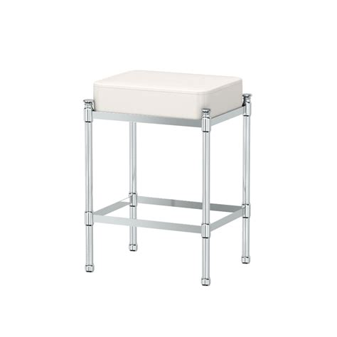 modern vanity stool for bathroom chrome vanity stool gatco vanity seating bathroom