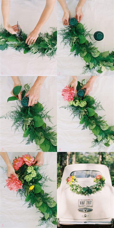 wedding crafts for diy wedding getaway garland once wed