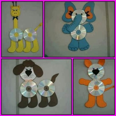 cd craft ideas for cd animal teaching ideas pictures home