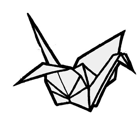 origami bird drawing origami crane by helenhappymeal