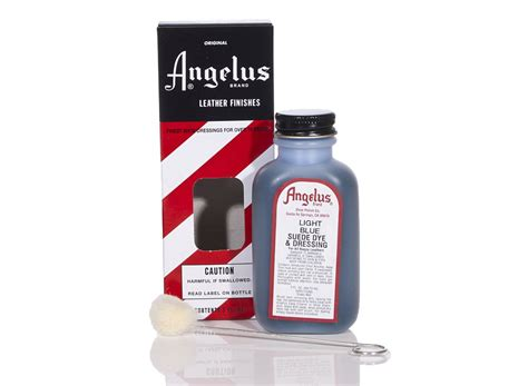 Angelus Dyes Paint Light Blue 3oz Suede Dye Leather