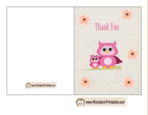 make thank you cards with photos free free printable woodland baby shower thank you cards
