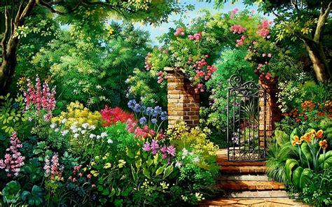 garden gate flowers charming flowers garden gate wallpapers charming