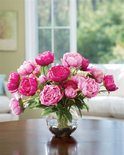 flower centerpieces buy customer favorite deluxe peony silk flower centerpiece