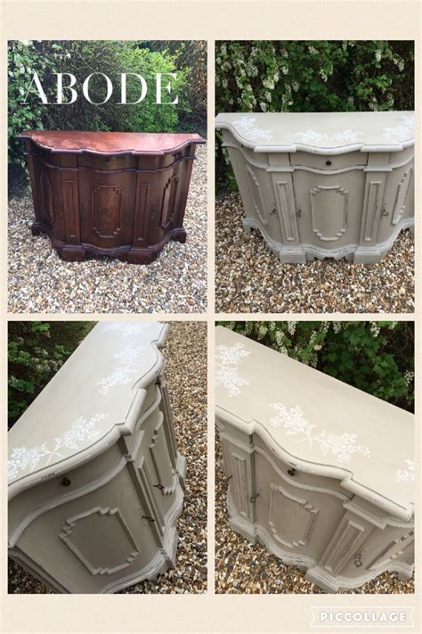 chalk paint arbor before and after of an italian sideboard painted on