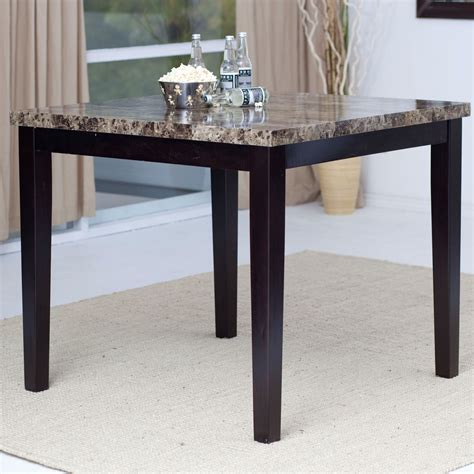 contemporary counter height dining table contemporary 42 x 42 inch counter height dining table with