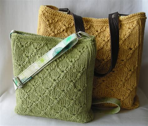 knitting totes summer knitted purse and tote knitting pattern pdf