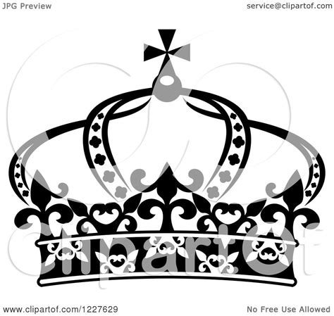 clipart of a black and white crown 11 royalty free