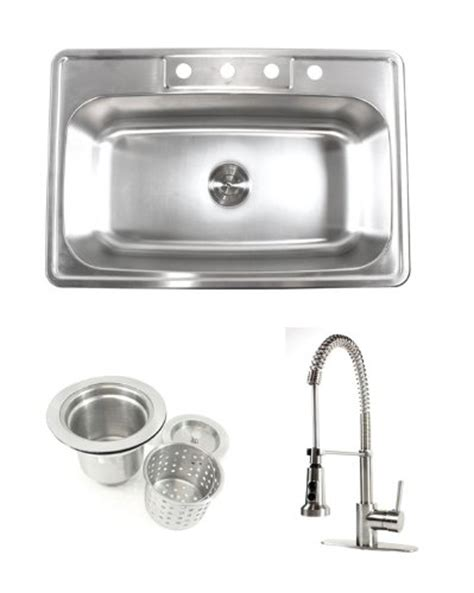 kitchen sink comparison compare 33 inch stainless steel top mount drop in single