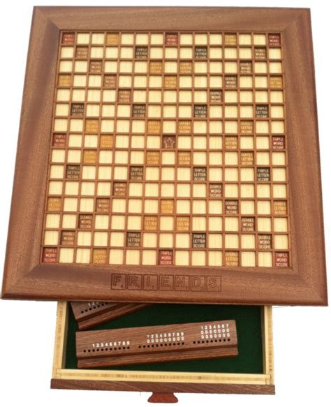 wood scrabble board custom wooden scrabble board made in your choice of wood