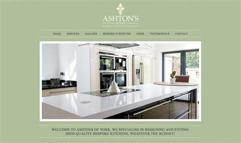 kitchen design websites website design for ashton s of york affordable web design