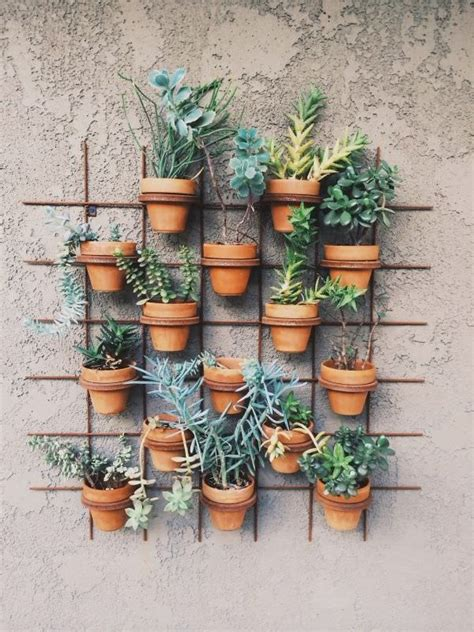 garden wall pots 15 brilliant diy vertical indoor garden ideas to help you
