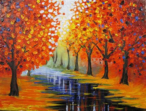 acrylic painting lesson ideas lesson how to paint an easy leonid afremov inspired
