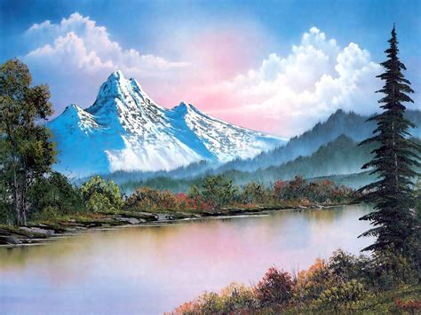 bob ross painting gallery all things sweet b portland gallery pays homage to tv