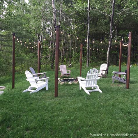 Pergola Swings remodelaholic easy diy outdoor lighting around a fire pit