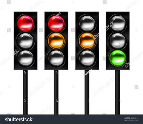sequence lights traffic light sequence stock photo 24463843