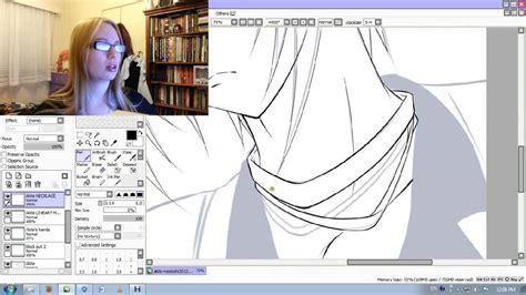 paint tool sai drawing without lineart easy paint tool sai satoshi and akito anime lineart