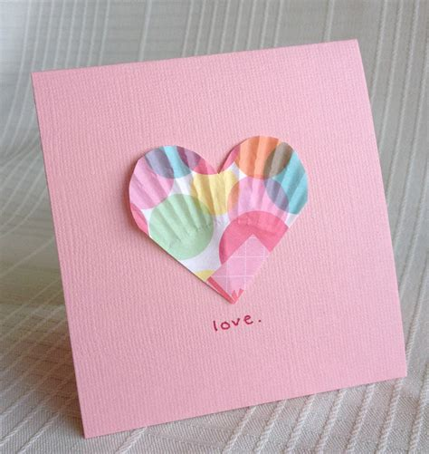 craft paper cards be brave keep going easy valentines craft paper liner hearts