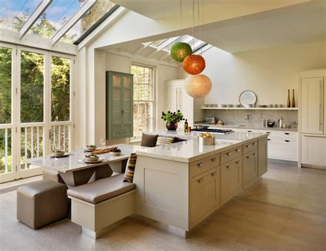 modern kitchen island bench kitchen and dining area greta 20 wallace renovation