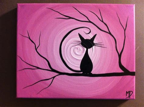 black cat painting step by step learn the basics of canvas painting ideas and projects