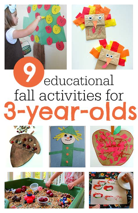 educational crafts for 9 must do fall activities for 3 year olds no time for