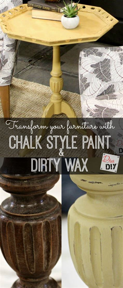 chalk paint diy wax how to update a table with a paint and wax