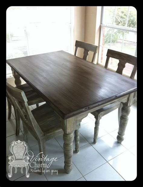chalk paint that looks like stain staining on top of chalk paint to create that wooden look