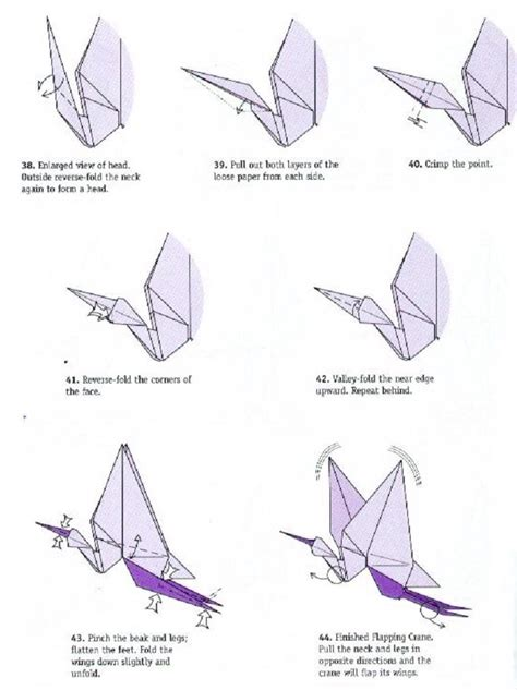 origami crane with flapping wings crane origami difficult model