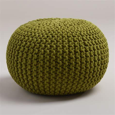 knitted poofs oasis knitted pouf world market