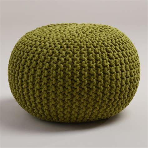 Oasis Knitted Pouf World Market