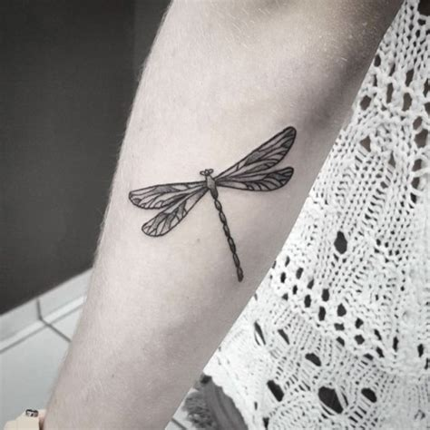 dotwork dragonfly tattoo on forearm best tattoo ideas