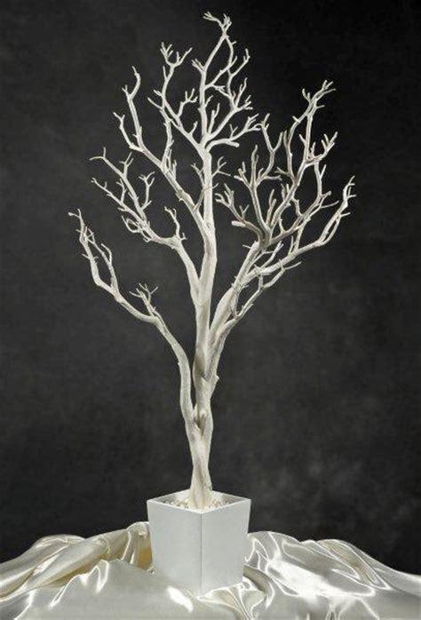 white tree decor white potted wedding tree 4 foot