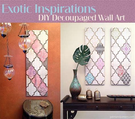 how to decoupage with scrapbook paper diy decoupage wall using scrapbook paper and stencils
