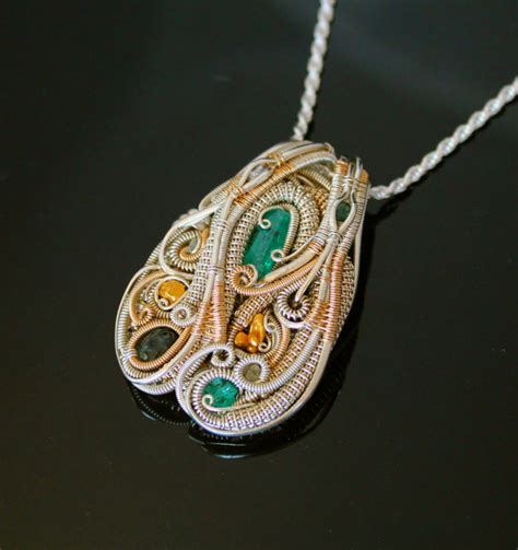what is wire wrapping in jewelry heady wire wrapped pendant wrap jewelry handmade emerald