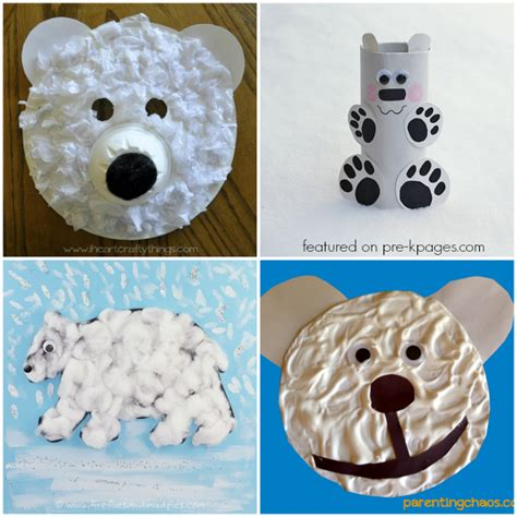 arctic crafts for polar activities for pre k pages