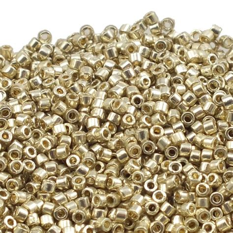 miyuki seed uk miyuki 11 0 delica seed bead duracoat galvanised silver