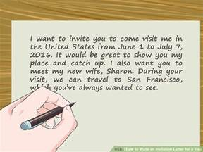 how to write a invitation how to write an invitation letter for a visa 14 steps