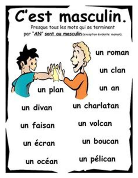 masculine nouns in des noms masculins en fran 231 ais ideas for teaching