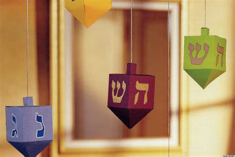 hanukkah craft projects hanukkah craft ideas paper dreidels huffpost