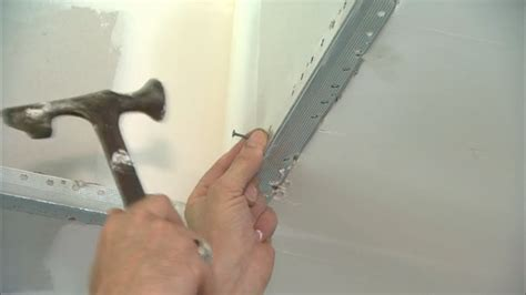 how to put on corner bead how to secure a metal outside corner bead to drywall