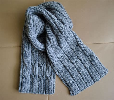 mens scarf knit pdf knitting pattern s scarf cables