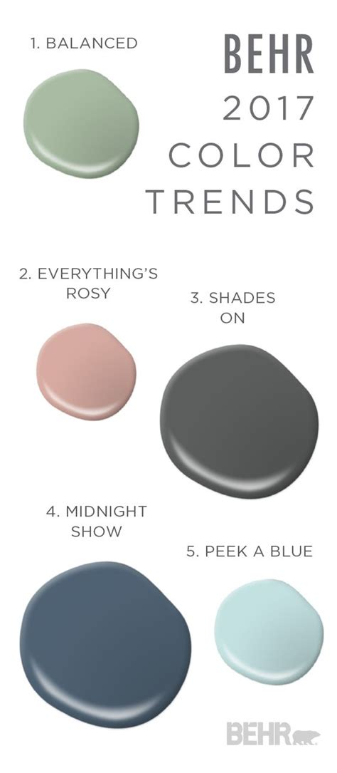 behr paint color combinations interior this paint combination of balanced everything s rosy