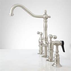 Kitchen Faucet Sprayer bellevue bridge kitchen faucet with brass sprayer lever