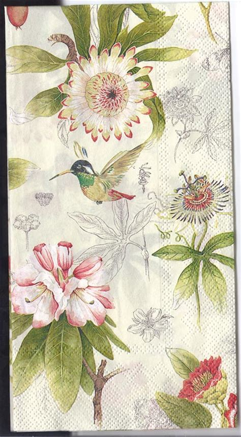 flower decoupage decoupage napkins of flowers and hummingbird